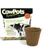 Cowpots Biodegradable Seedling Planters Round Size 3 12 Pack
