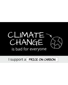 Climate Change is Bad For Everyone Sticker - 3X5 - Black