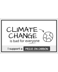 Climate Change is Bad For Everyone Sticker - 3X5 - White