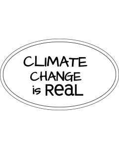 Climate Change is Real Price Carbon Sticker - 3x5 - White - Oval