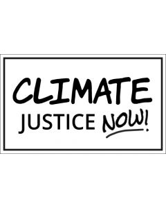 Climate Justice Now Sticker - 3X5 - White