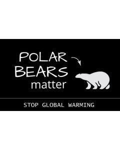 Polar Bears Matter Stop Global Warming Sticker - 3X5 - Black