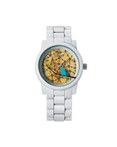 Sparrow Watch with White Corn Resin Strap