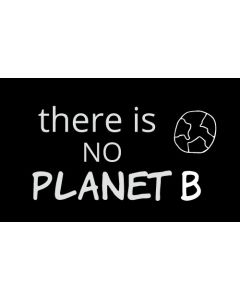 There is No Planet B Sticker - 3X5 - Black