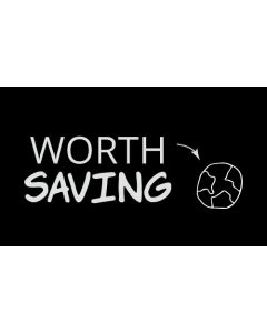 Worth Saving Planet Earth Sticker - 3X5 - Black