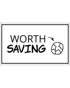 Worth Saving Planet Earth Sticker - 3X5 - White